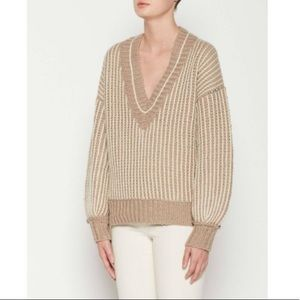 Brochu Walker Jessen Striped V-Neck Sweater